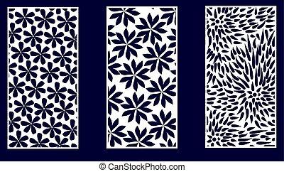 Set of Decorative laser cut panels.