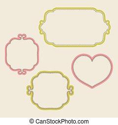 Set of decorative retro frames