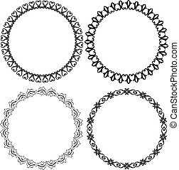 round frames - set of decorative round frames