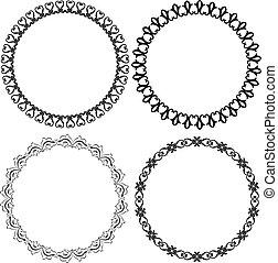 round frames - set of decorative round frames