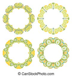 Set of decorative round frames