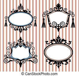 Set of decorative vector frames