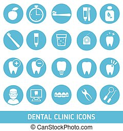 Set of dental clinic icons. - Icons of dental clinic...