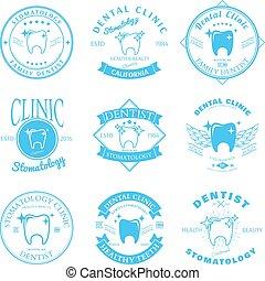 Set of dental clinic logo templates. Vector