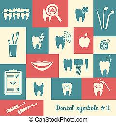 Set of dentistry symbols, part 1
