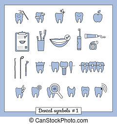 Set of dentistry symbols, part 2