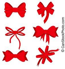 Set of design christmas ribbons