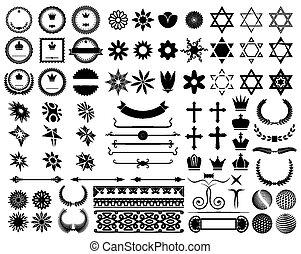 Set of design elements