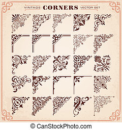 Set Of Design Elements Corners - Set Of Design Elements 26...
