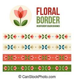 Set of design elements - floral borders - Design elements - ...