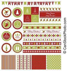 Set of design elements for Christmas party