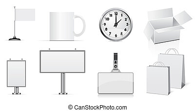 set of design elements for corporate identity. Easy to place...