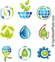 Set of design elements - Set of nine vector design elements....