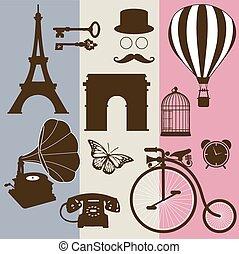 Set of design elements of France