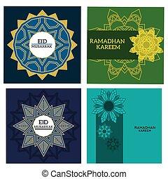 Set of design islamic background