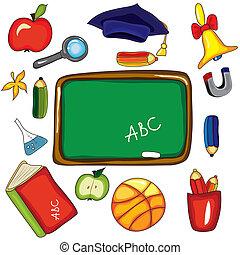 Set of design school elements