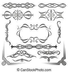 set of design vintage elements
