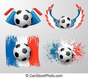 France football championship - Set of designs to Euro 2016...