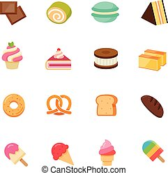 Set of Dessert Icon