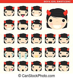 devil girl emoticons