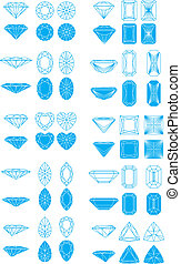 Set of diamond cutting design elements