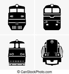 Set of Diesel locomotives