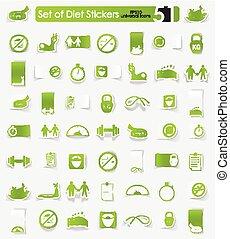 Set of diet stickers