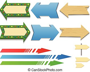 Set of different arrows vector illustration
