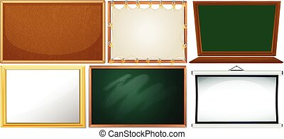 Set of different board