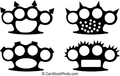 knuckles - set of different brass knuckles