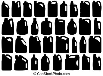 Set Of Different Canisters