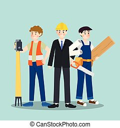 Set of different career profession people character