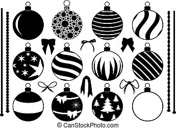 Set of different Christmas