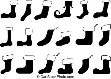 Set of different Christmas socks