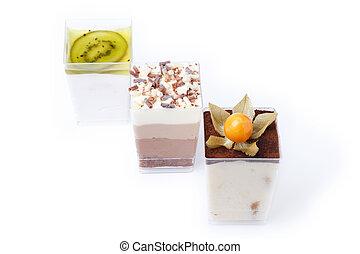Set of different cold dessert 2