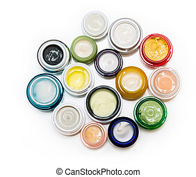 Set of different cosmetics cream