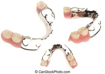 set of different Dentures