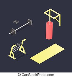 Set of different fitness attributes