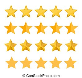 Set of different five stars rating