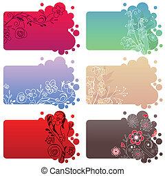 Set of different floral frames