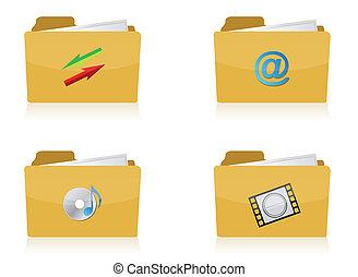 Set of different folders