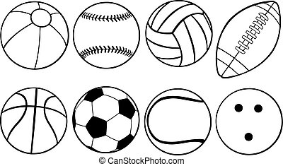 balls - set of different game balls