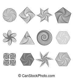 Set of Different Geometric Ornaments