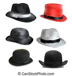 set of different hats - set of 6 different hats. stylish...