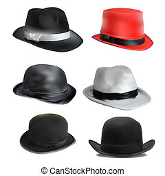 set of different hats - set of 6 different hats. stylish...