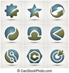 Set of different icons.