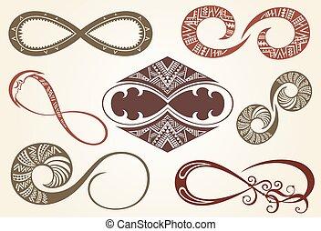 Set of different infinity symbols