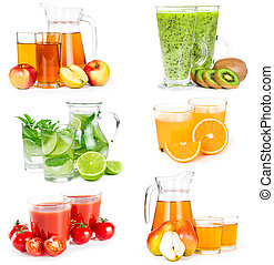 Set of different juices