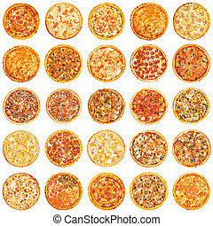 Set of different kind of pizza