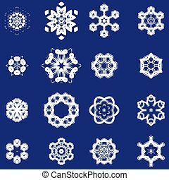 Set of Different Ornamental Rosettes - Set of Different...